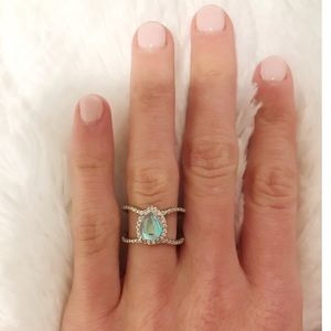 Jewelry - ★ Silver Double Band Moonstone Ring ★